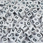 Alphabet Beads10mm 1/4 pound, 350 piecesBuy Now